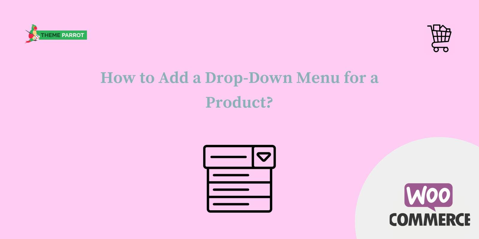 how to add a drop-down menu for a product