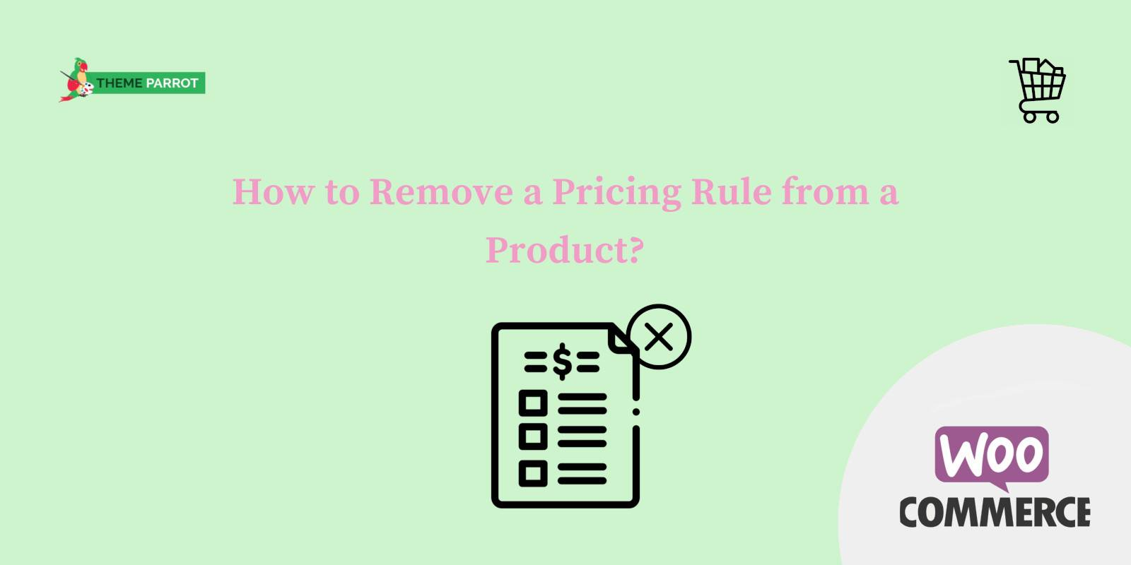 how to remove a pricing rule from a product