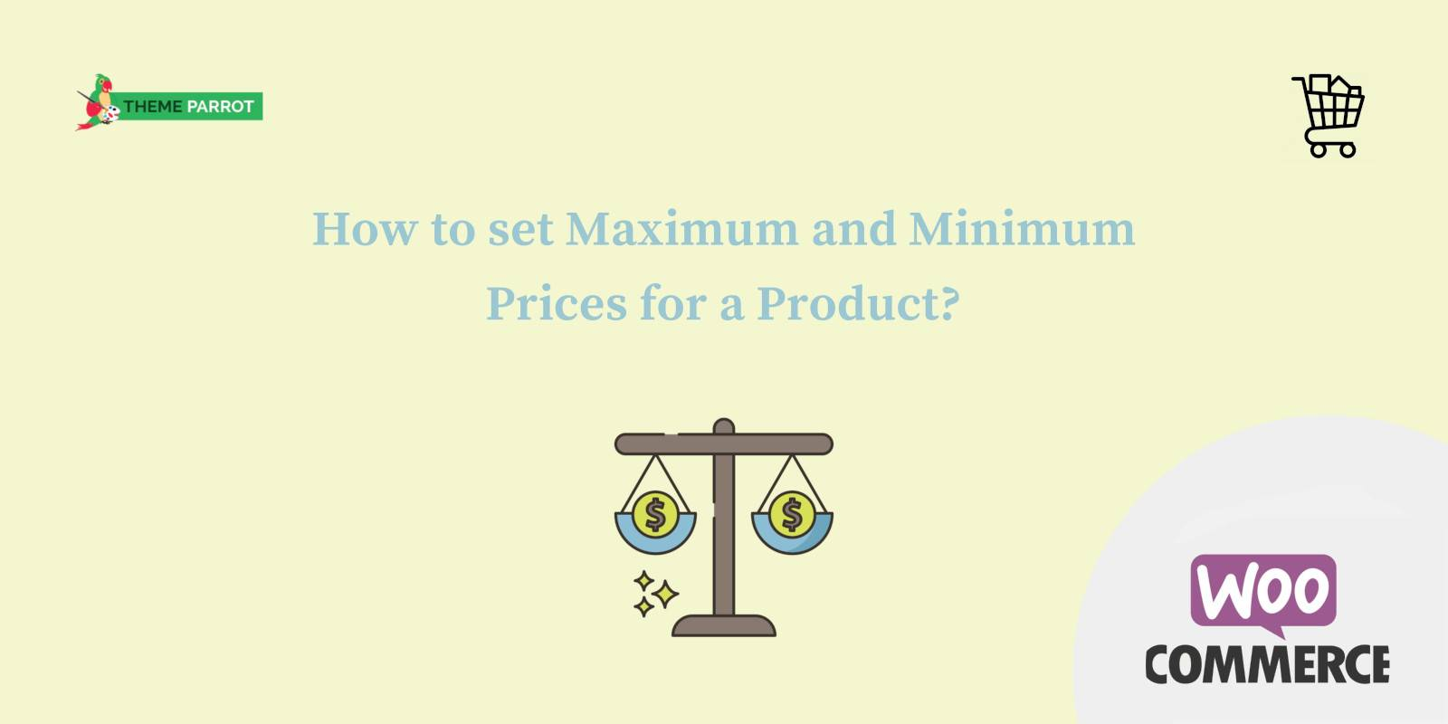how to set maximum and minimum prices for a product