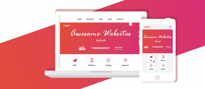 awesome templates buit with themeparrot templates