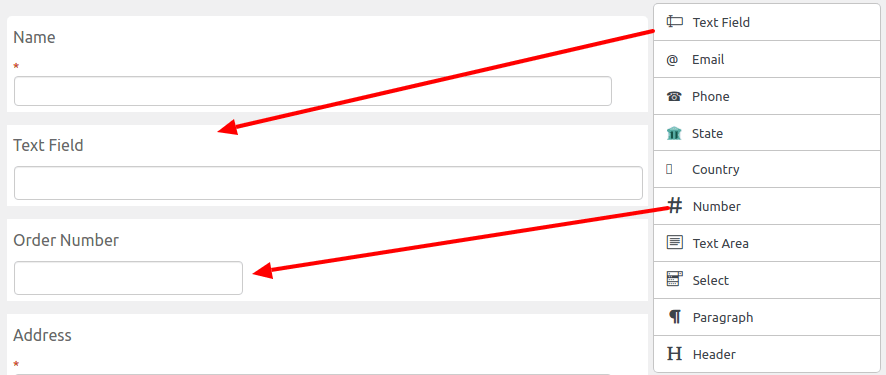 drag and drop feature of extra checkout field editor plugin