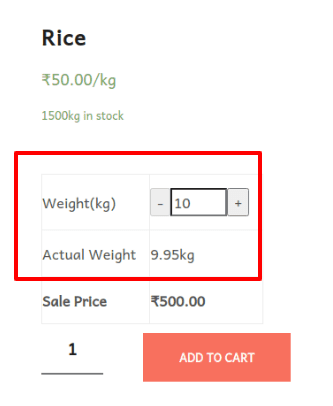 checkout page of rice