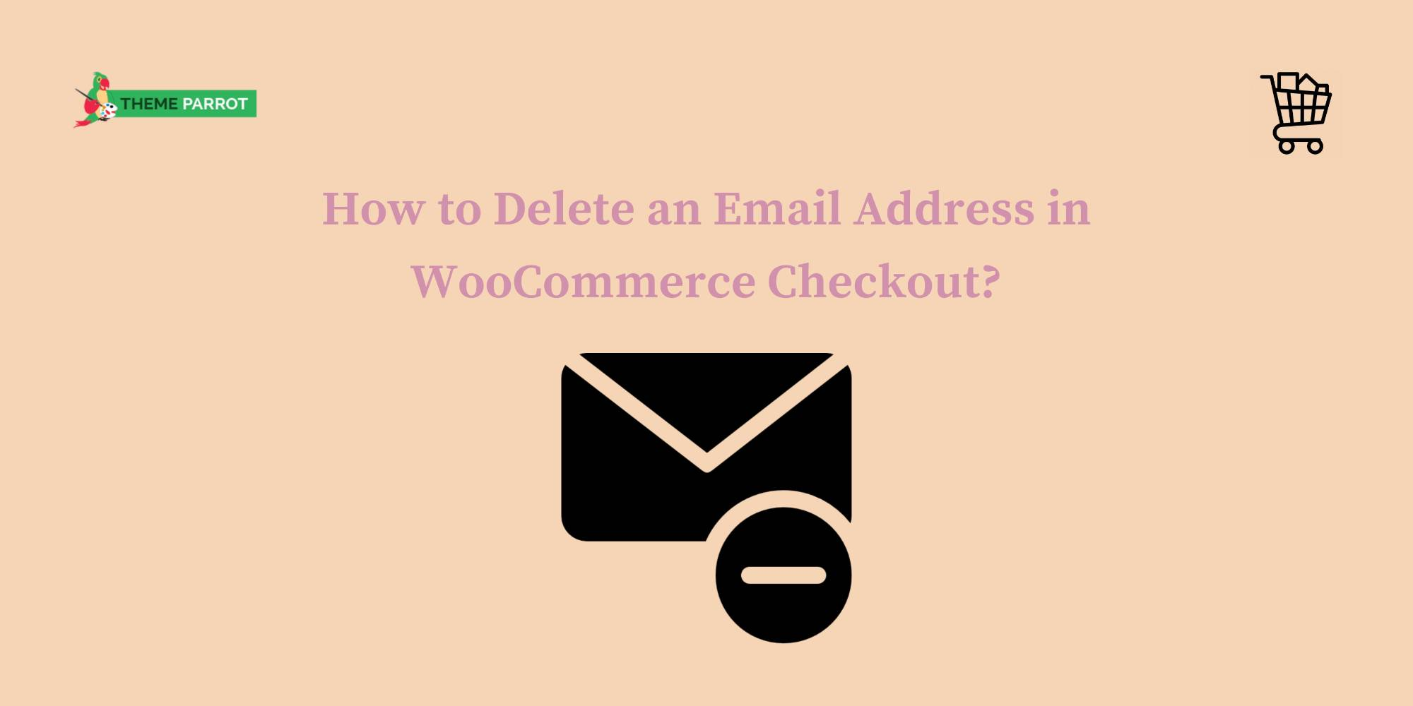 how to delete an email address in woocommerce checkout